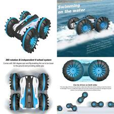 Remote Control Car Boat Truck 4WD 6CH 2.4Ghz Land Water 2 in 1 RC Toy Blue