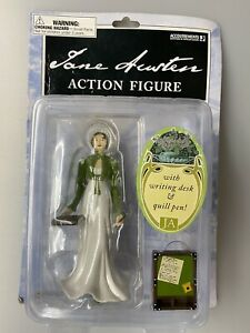 Jane Austen Action Figure w/ Writing Desk & Quill Pen -BRAND NEW -SEALED (2005)