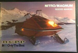 1976 VINTAGE RUPP NITRO & MAGNUM OWNERS RIDERS MANUAL NICE (772)