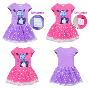 Vampirina Cartoon Girls Cosplay Costume Party Dress Skirts Fancy Dresses New
