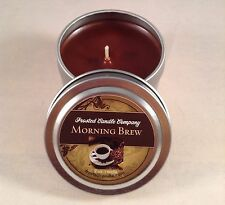 Morning Brew 2 oz Travel Tin Coffee The Frosted Candle Company Wax Brown Java