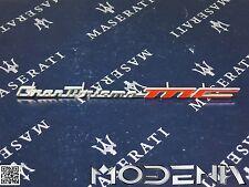 Maserati GranTurismo MC stemma scritta SCOMPARTO INTERNO AUTO DASHBOARD