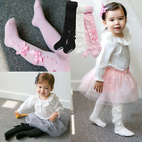 "Vaenait Baby Kids Girls Tights Bottom Trousers Socks Set ""S.Ribbon"" 100-210mm"