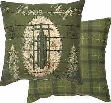 "PINE TOP Rustic Christmas Throw Pillow, 12"" x 12"", Primitives by Kathy"