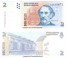 Argentina 2 pesos serie 2013 L P-NUEVOS BILLETES UNC