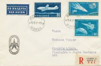 "BULGARIEN 1961 Erstflug TABSO ""SOFIA, Bulgarien – FRANKFURT"" als Einschreiben"