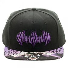 Suicide Squad DC COMICS THE JOKER HAHAHA BATMAN LOGO BLACK SNAPBACK HAT CAP