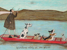 Sam Toft - Woofing along on the River - Ready Framed Canvas 30x40cm