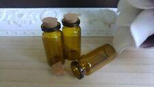 Laborglas Braunglasflaschen 10 ml 10 x Korkflaschen Miniflaschen botelle corcho