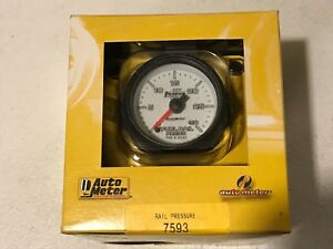 """Auto Meter Phantom II 2-1/16"""" 0-30K PSI Full Sweep Electric Fuel Pressure Gauge"""