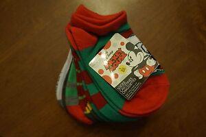 NEW Disney Mickey Mouse 6 Pack Boys Christmas Socks Size 4-6 (shoe size 7-10)