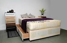 4ft6 Double Divan Bed With 2 Drawers & SUPERB Orthopaedic 25cm Deep Mattress