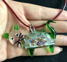 new cat colors blown lampwork murano glass pendants jewelry  for Necklace