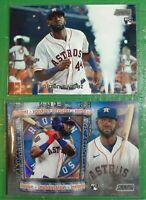 (2) 2020 Topps Stadium Club Yordan Alvarez LOT! Instavision RC SP IR-YA & Base