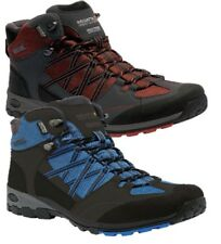 REGATTA MENS SAMARIS MID WALKING TRAIL WATERPROOF BOOT BLUE ORANGE RMF509