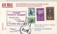 United States 1965 1st Flight LH 421 Slogan Airmail Multi Stamps Cover Ref 29426