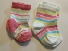 2 Pairs Of New Born Baby Girls Socks