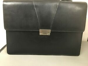 Leather look briefcase
