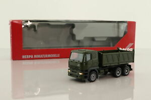Herpa Maag 1:87; Iveco 6w Rigid Tipper; Military; Very Good Boxed