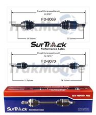 Ford Festiva FWD 1988-1993 Pair of Front CV Axle Shafts SurTrack Set Stdrd Trans