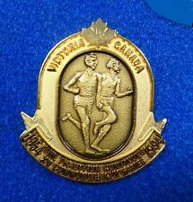 Track & Field Coach 50th Ann. Gold Crest Bannister Landy Miracle Mile Race Pin