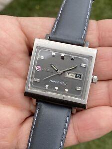 vintage rado manhattan Autmatic Calender Stainless Steel Men's Watch