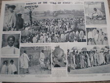 Photo article on the peopl of Abyssinia Ethiopia 1935