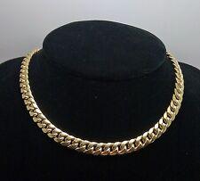 "10K Yellow Gold Miami Cuban Link Chain 7.5mm, 32"" Franco, Rope, Italian"