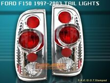 97-03 FORD F150 F-150 TAIL LIGHTS CHROME 2000 1999 1998