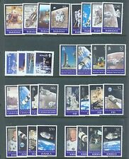 British Commonwealth 1999 Moon Landing  sets of 4 & min sheets for 13 countries