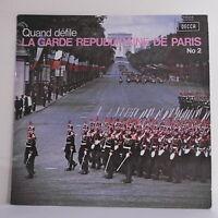 33T QUAND DEFILE LA GARDE REPUBLICAINE DE PARIS N°2 Disque LP GIRAUD CARTIERRE