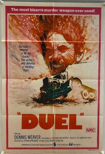 Duel Original Australian One Sheet Film Poster (1973) Steven Spielberg & Weaver