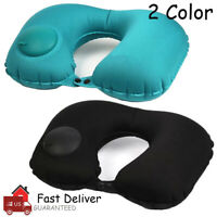 Portable Inflatable Air Pillow Cushion Travel Neck Support U Shaped Light Weight