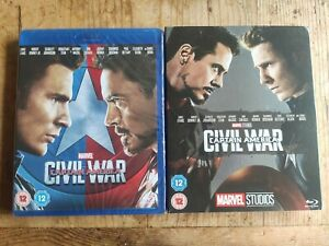Captain America Civil War  (Blu-ray) New & Sealed Collectible Marvel Slip cover