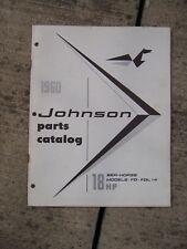 1960 Johnson Sea Horse 18 HP FD - FDL - 14 Outboard Motor Parts Catalog  L