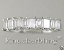 Emerald Wedding White Gold Fine Diamond Rings