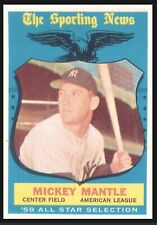 1959 Topps #564 Mickey Mantle All Star Bazooka Chew of Champions. Not A Reprint.