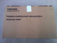 Toshiba Hi Speed Port Replicator ll PA3916U-1PRP USB3.0 HDMI With Adapter