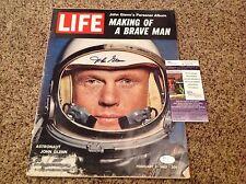 JOHN GLENN Autographed Complete Feb 1962 Life Magazine - JSA COA