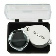 30x21mm Magnifying Glass Jewellers Loupe Useful Jewellery Eye Lens Magnifier HOT