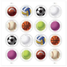 🏀 USA permanent stamps! Have a Ball, Sport, Baseball, Volleyball, 2017, 16v