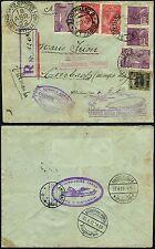 71/Zeppelin Brasilien 1932 3. Südamerikafahrt R-Brief Joinville Ansbach Si 151 B