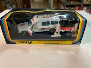 Coche de miniatura Corgi 406 Mercedes Bonna Ambulance