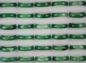 Wholesale Lots 60pcs Lady Jewelry Green Agate Ring Fashion Gifts Free Shipping