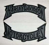 Harley Davidson Black Grey Muted Rocker Patch Set Large Motorcycle Biker