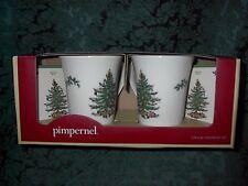 SPODE CHRISTMAS TREE 2 STONEWARE MUG & COASTER SET-NEW IN BOX