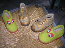 lot chaussures garçon 20 quasi neuves naturino CUIR + pantoufles little mary