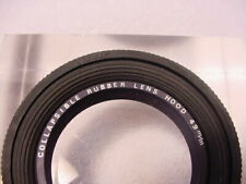 Vintage 49mm Collapsible Rubber Lens Hood   Made in Japan   screw-in   Nice   $3