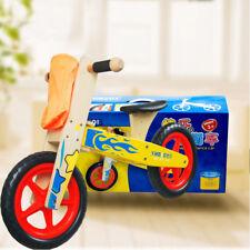 Wooden Children Kids Balance Bike Running Learning Training First Bike Toy