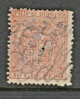 USA Philippines Revenue stamp 3-3-   Lite OP + nice interesting cancel -pinhole